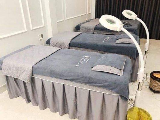 ga trải giường spa