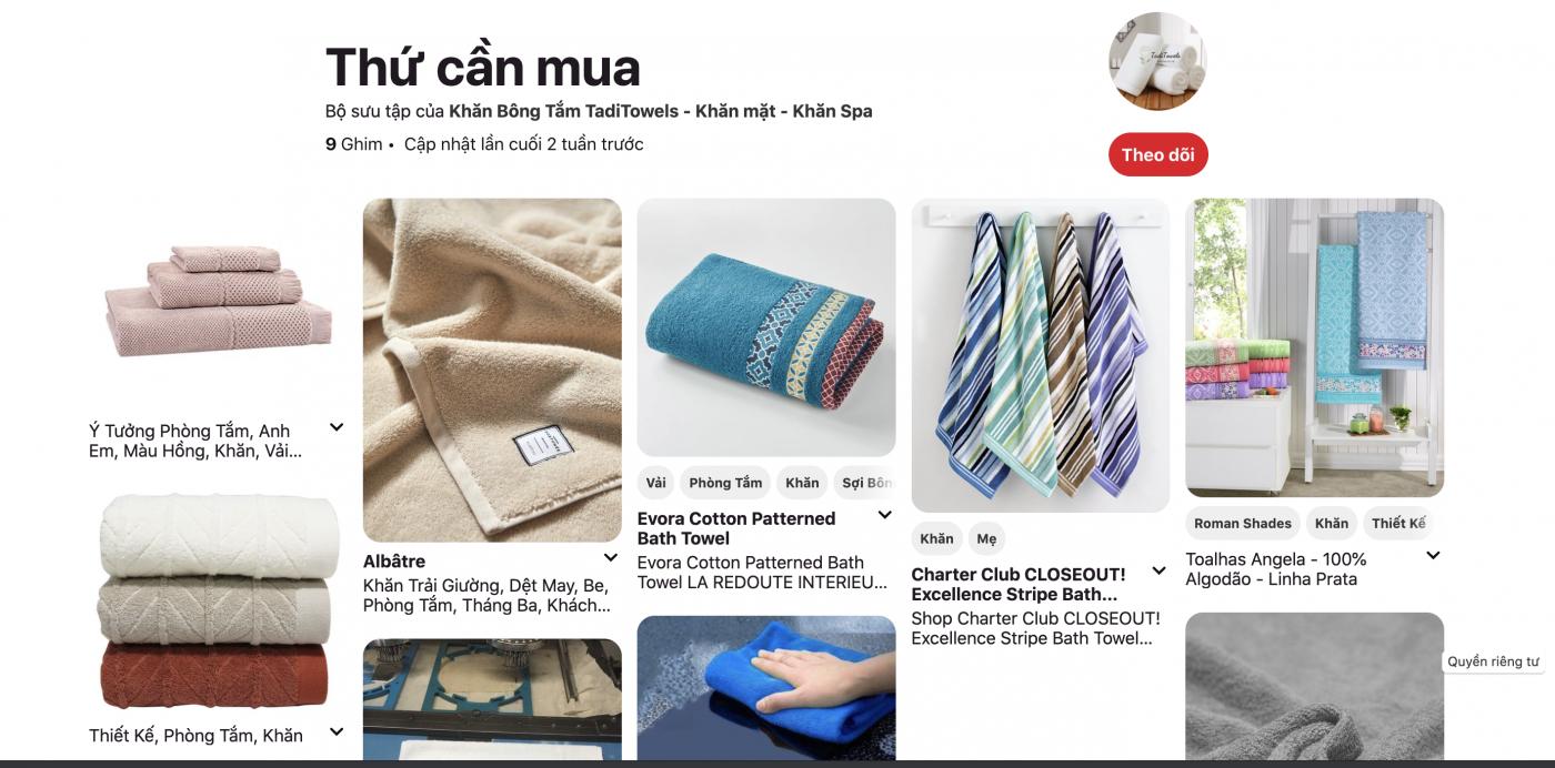 gian hàng giới thiệu sản phẩm của khăn bông TadiTowels